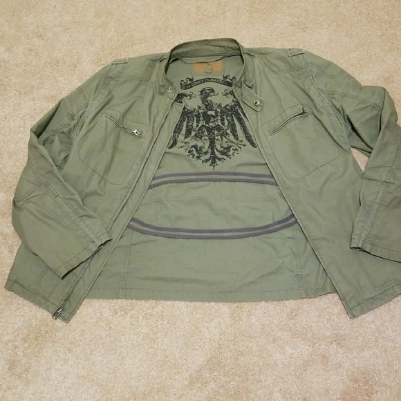 Guess Other - Guess Men s Green Military Jacket ae5588fe0213c